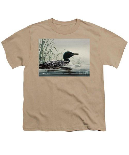Loon Near The Shore Youth T-Shirt by James Williamson