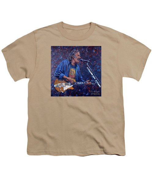 Neil Young Youth T-Shirt by John Cruse Knotts