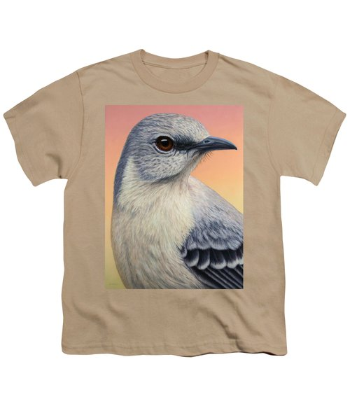 Portrait Of A Mockingbird Youth T-Shirt by James W Johnson