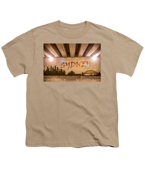 Sydney Graffiti Skyline Youth T-Shirt by Semmick Photo