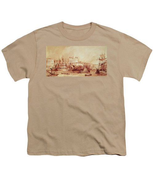 View Of The Tower Of London Youth T-Shirt by William Parrott
