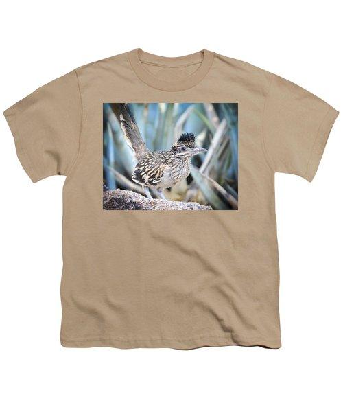 A Juvenile Greater Roadrunner  Youth T-Shirt by Saija  Lehtonen