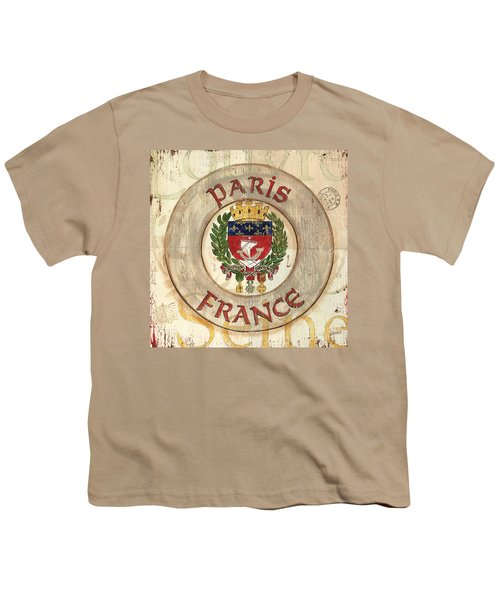 French Coat Of Arms Youth T-Shirt by Debbie DeWitt