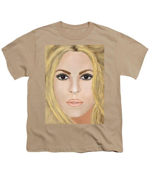 Shakira Youth T-Shirt by Mathieu Lalonde