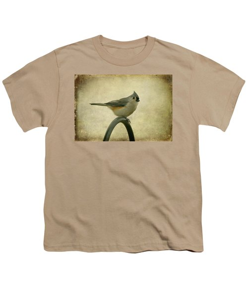 Tufted Titmouse II Youth T-Shirt by Sandy Keeton