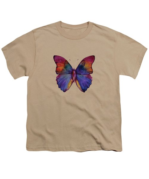 13 Narcissus Butterfly Youth T-Shirt by Amy Kirkpatrick
