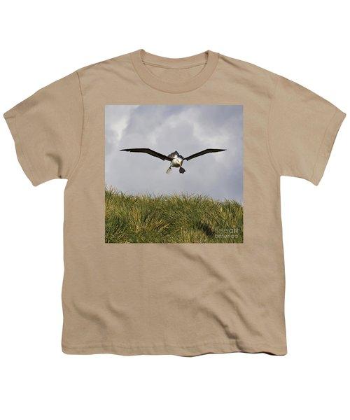 Black-browed Albatross Youth T-Shirt by Jean-Louis Klein & Marie-Luce Hubert