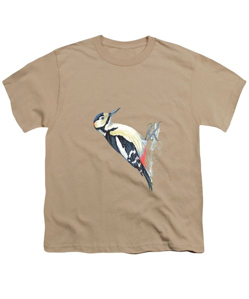 Great Spotted Woodpecker Youth T-Shirt by Roy Pedersen