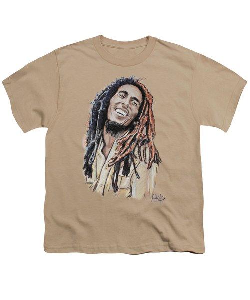 Bob Marley Youth T-Shirt by Melanie D