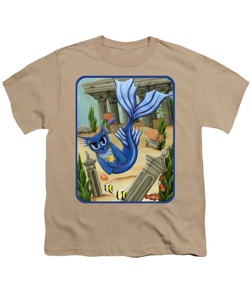 Atlantean Mercat Youth T-Shirt by Carrie Hawks