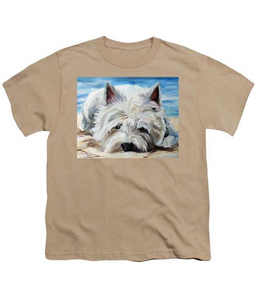 Beach Bum Youth T-Shirt by Mary Sparrow