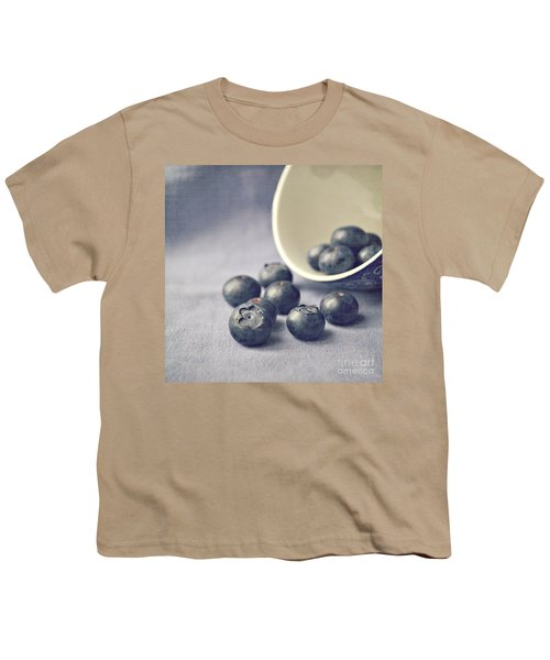 Bowl Of Blueberries Youth T-Shirt by Lyn Randle