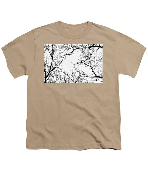 Branches And Birds Youth T-Shirt by Sandy Taylor