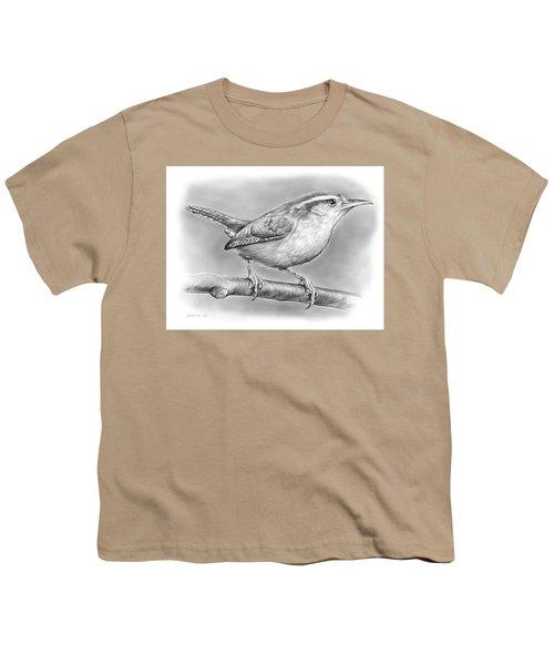 Carolina Wren Youth T-Shirt by Greg Joens