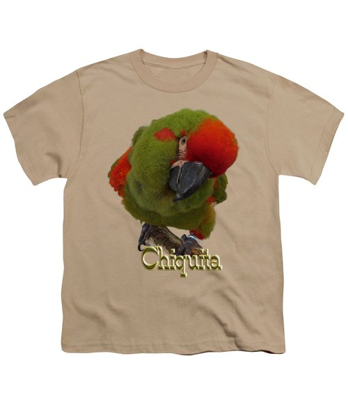Chiquita, A Red-front Macaw Youth T-Shirt by Zazu's House Parrot Sanctuary