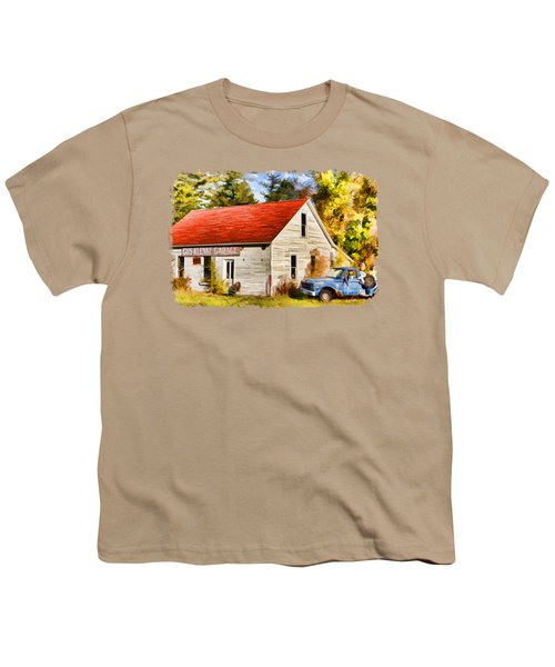 Door County Gus Klenke Garage Youth T-Shirt by Christopher Arndt