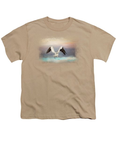 Early Morning Swim Youth T-Shirt by Jai Johnson