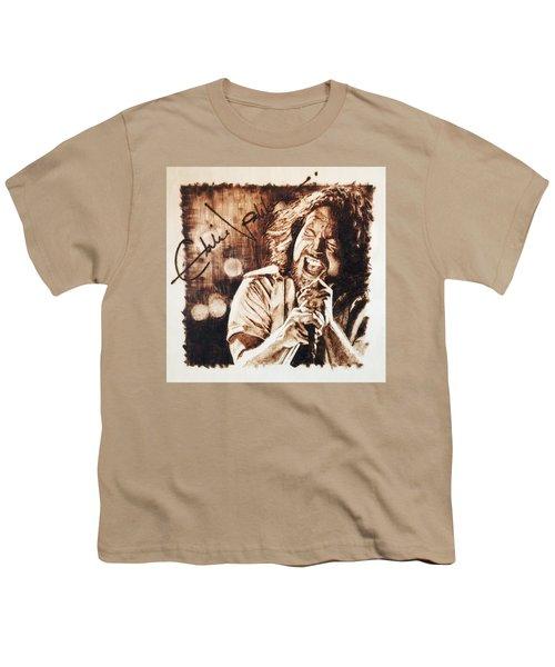 Eddie Vedder Youth T-Shirt by Lance Gebhardt