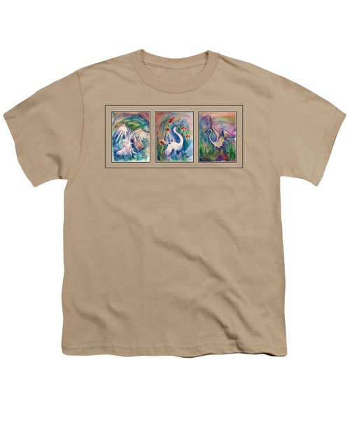 Egret Series Youth T-Shirt by Robin Monroe
