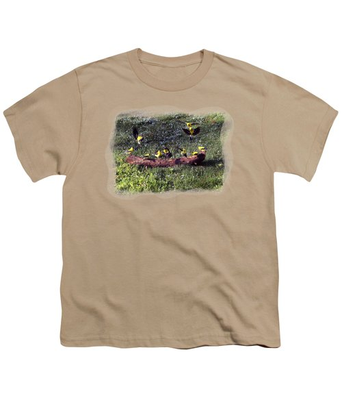 Goldfinch Convention Youth T-Shirt by Nick Kloepping