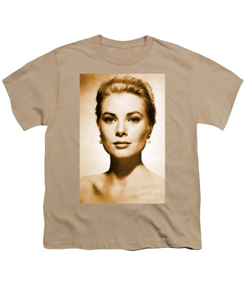 Grace Kelly Youth T-Shirt by Opulent Creations