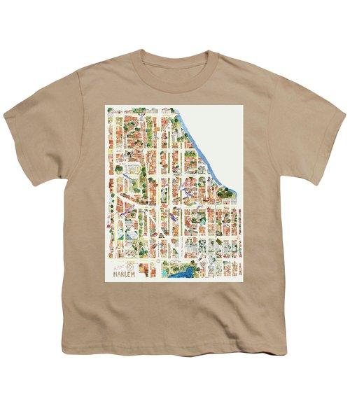 Harlem From 110-155th Streets Youth T-Shirt by Afinelyne
