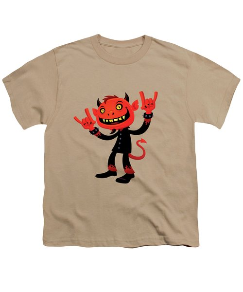 Heavy Metal Devil Youth T-Shirt by John Schwegel