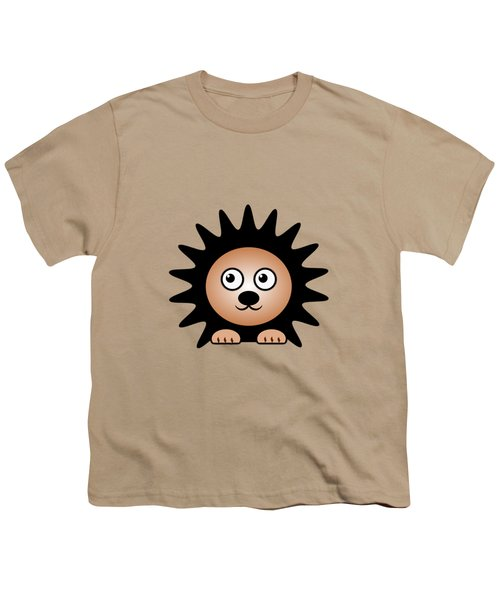 Hedgehog - Animals - Art For Kids Youth T-Shirt by Anastasiya Malakhova