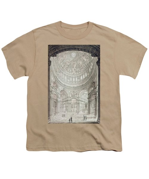 Interior Of Saint Pauls Cathedral Youth T-Shirt by John Coney