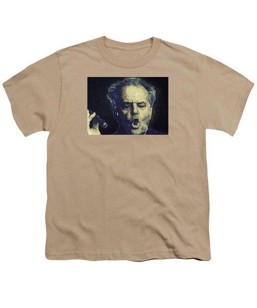Jack Nicholson 2 Youth T-Shirt by Semih Yurdabak
