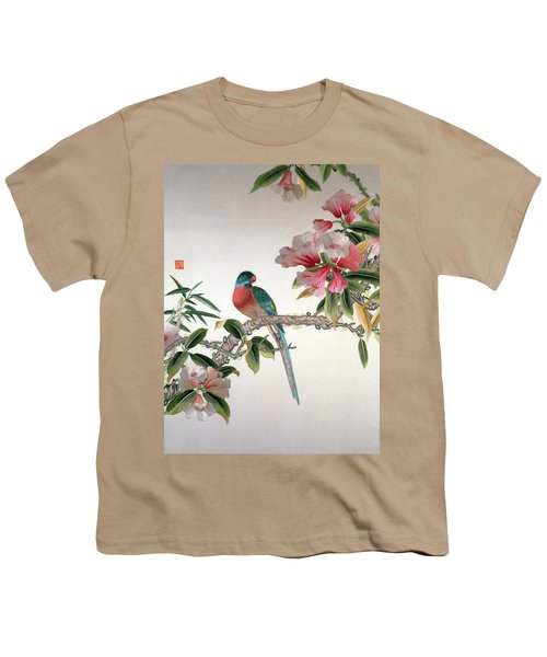 Jay On A Flowering Branch Youth T-Shirt by Chinese School