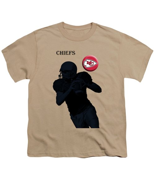 Kansas City Chiefs Football Youth T-Shirt by David Dehner
