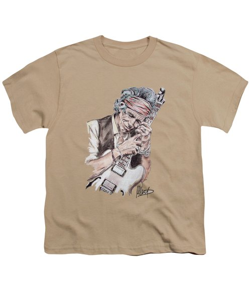 Keith Richards Youth T-Shirt by Melanie D