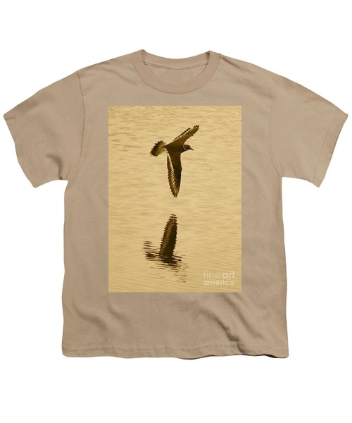 Killdeer Over The Pond Youth T-Shirt by Carol Groenen