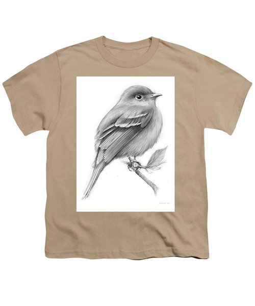 Least Flycatcher Youth T-Shirt by Greg Joens