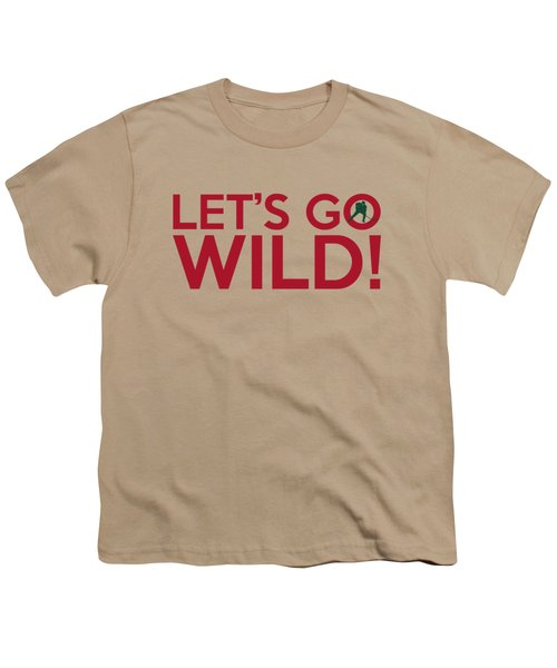 Let's Go Wild Youth T-Shirt by Florian Rodarte
