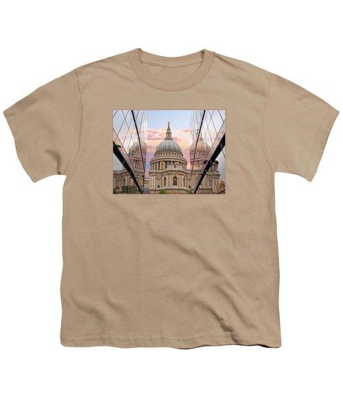 London Awakes - St. Pauls Cathedral Youth T-Shirt by Gill Billington