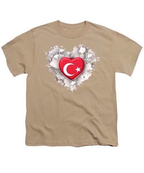 Love Turkey Youth T-Shirt by Alberto RuiZ