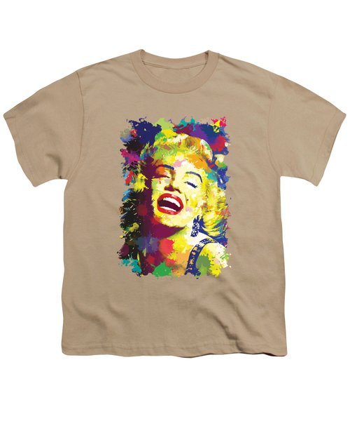 Marilyn Monroe Youth T-Shirt by Anthony Mwangi