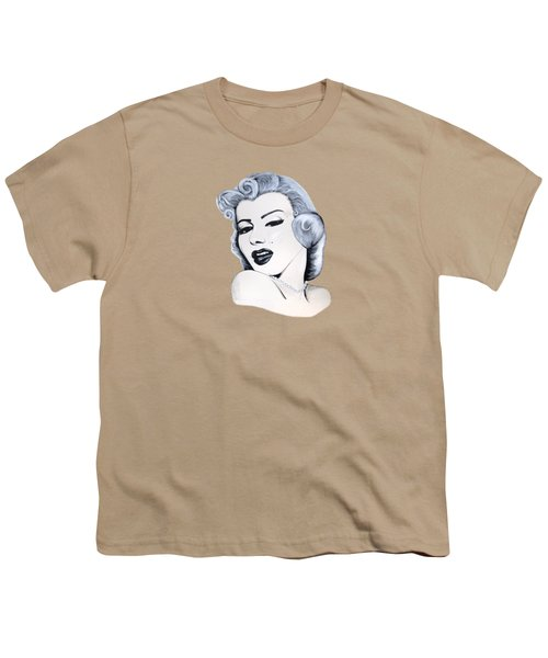 Marilyn Monroe Youth T-Shirt by Ivana Hlavca