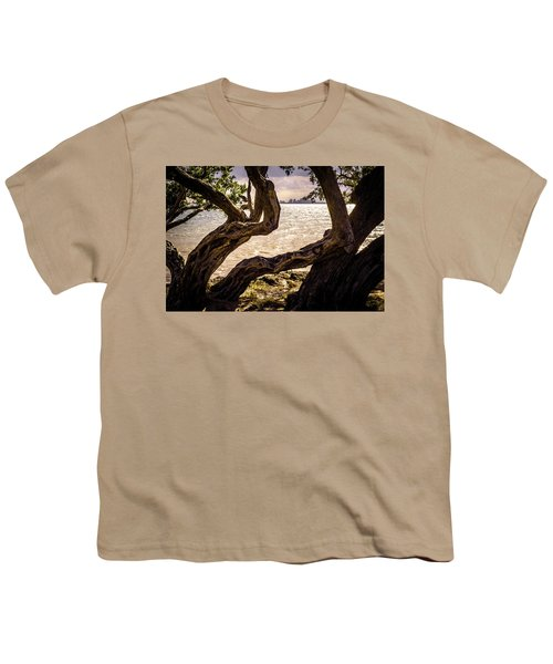 Miami At A Distance Youth T-Shirt by Camille Lopez