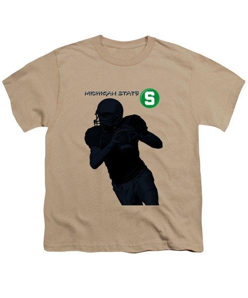 Michigan State Football Youth T-Shirt by David Dehner
