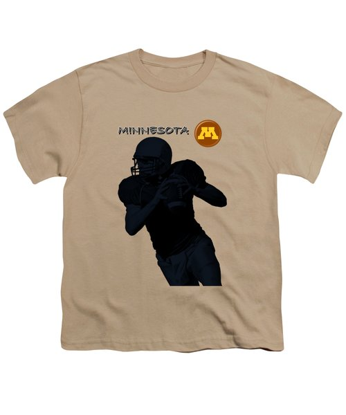 Minnesota Football Youth T-Shirt by David Dehner