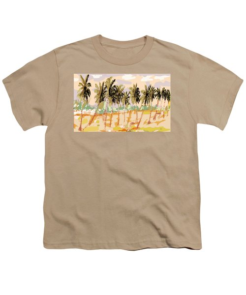 Monsoon At Field View - Kerala B Youth T-Shirt by Thecla Correya
