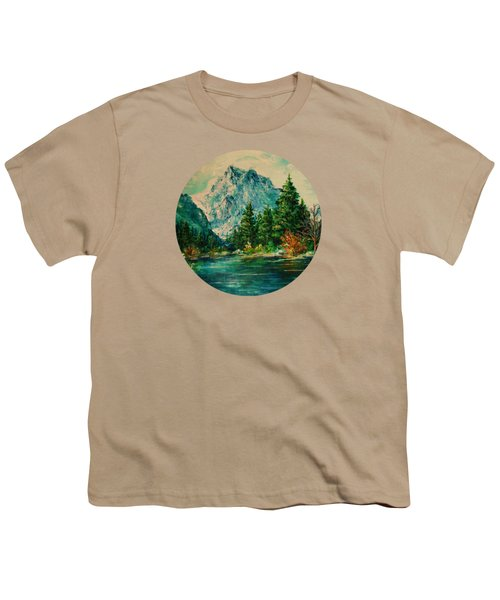 Mountain Lake Youth T-Shirt by Mary Wolf