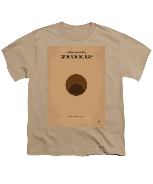 No031 My Groundhog Minimal Movie Poster Youth T-Shirt by Chungkong Art