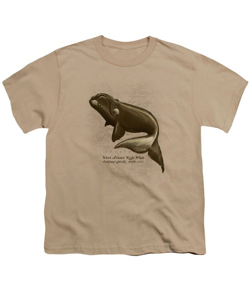 North Atlantic Right Whale Youth T-Shirt by Amber Marine