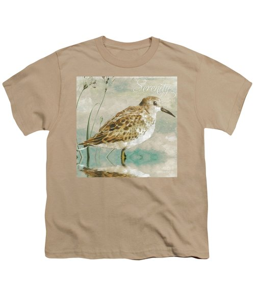Sandpiper I Youth T-Shirt by Mindy Sommers