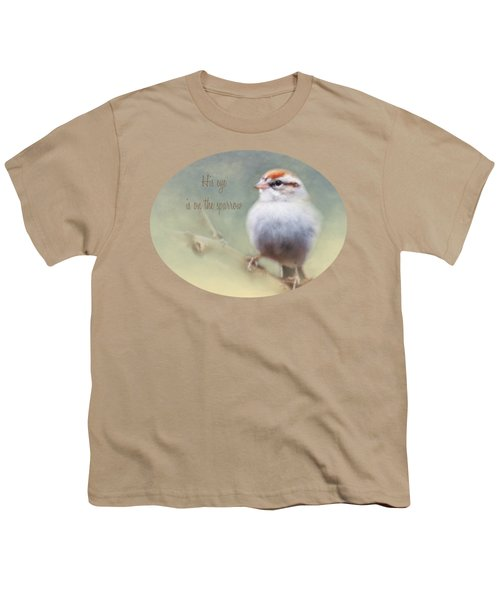 Serendipitous Sparrow - Quote Youth T-Shirt by Anita Faye