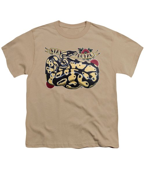 Stay Royal Ball Python Youth T-Shirt by Donovan Winterberg